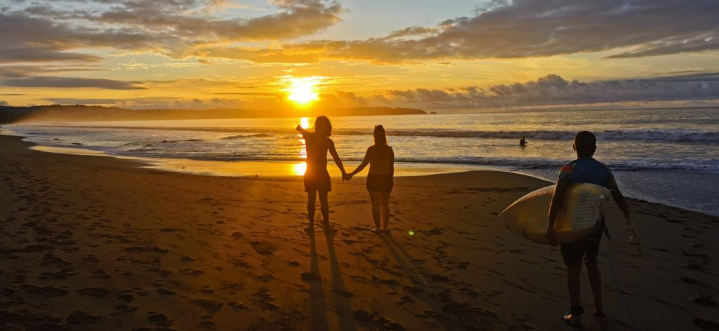 Sonnenuntergang in Nuqui