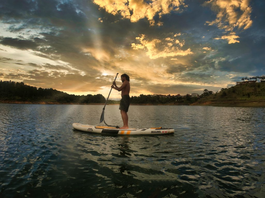 Stand up paddle in Guatape